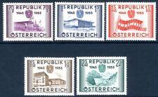 AUSTRIA-1955 Anniversary of Republic Sg 1269-1273 UNMOUNTED MINT V19056