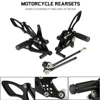 CNC Adjustable Rearset Foot Pegs Black For Honda CBR600RR/1000RR 2003-2007 AU
