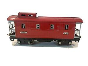 1930 LIONEL PREWAR TRAINS -NO. 517 RED CABOOSE 3-RAIL W/LIGHT- STANDARD GAUGE VG