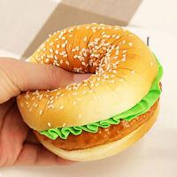 Artificiel Nourriture Faux Pain Hamburger Photographie Hélices Restaurant Maison