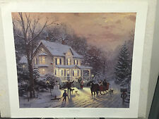 "Thomas Kinkade Signed Sample Print - Home for the Holidays 28x24"""