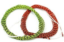 2 pcs 12FT Tenkara Furled Leader Fly Fishing Line Double Color Braided Line