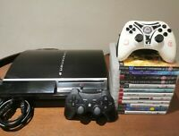 Sony PlayStation 3 80GB Console Mega Bundle 12 Boxed Games & 2 Controllers!