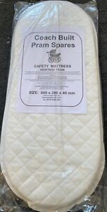 Deluxe Quilted Pram Mattress for Silver Cross Wayfarer Pioneer 660 x 280 x 40mm
