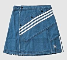 ADIDAS DANIELLE CATHARI DENIM MINI SKIRT M DECONSTRUCTED BLUE khaki track pants