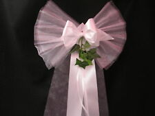 Wedding Pew Bows  Church Venue Decorations Personalised/Plain Any Colour