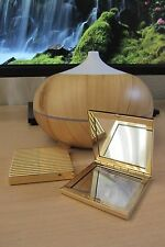 New Estee Lauder Gold Fluted Dual Mirror Compact