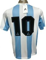 ARGENTINA HOME SOCCER JERSEY WORLD CUP 1986 MARADONA #10 ALL SIZES