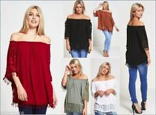 Blouse Lace Cropped Tops & Shirts for Women