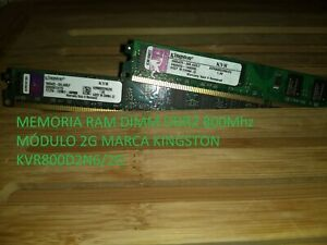 Memoria RAM 2GB DDR2 800 Mhz 240PIN KVR800D2N6/2G KINGSTON