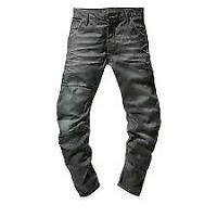 g star raw mens tapered dark wash denim jeans casual wear 5 pockeyt W28 L32 *3