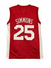 Ben Simmons Philadelphia 76ers Mesh Youth Large 14/16 NBA Boys Jersey Red