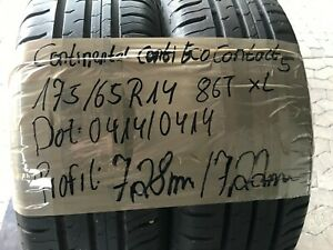 2 x 175 /65 R14 86T XL CONTINENTAL ContiEcoContact 5 Sommerreifen 7,22mm DOT0414