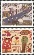 Yugoslavia 1979 Europe/Children's Art/Paintings/Houses/Animation 2v set (n44973)