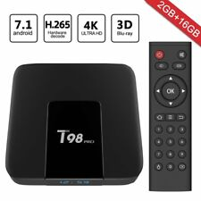 Greatever 2018 Newest T98 pro Android 7.1 TV Box 2GB+16GB with 3D/4K/WiFi/H.265
