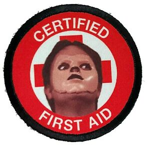 The Office Dwight Schrute FIRST AID Morale Patch Funny Tactical Military Army