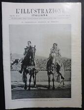 ILLUSTRAZIONE ITALIANA - N 23/1928 -TORINO CAROSELLO STORICO - PARMA PIZZETTI