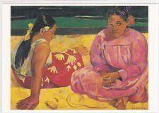CP ART TABLEAU GAUGUIN PAUL Femme de Tahiti ou sur la plage