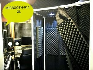 MICBOOTH-911 XL /Portable Stand-In Vocal Booth Big 2' x 4'