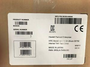 BC024A 882280-001 HP LTO8 Half Height Ultrium 30750 Tape Drive, New Sealed