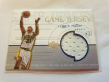 1999-2000 UD Game Jersey Reggie Miller Indiana Pacers Home Uniform Card