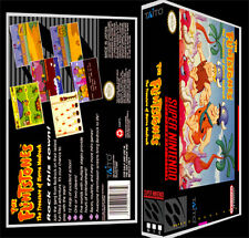 The Flintstones Treasure of Sierra Mad - SNES Reproduction Art Case/Box No Game.