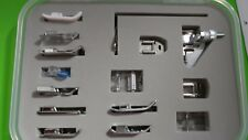 15-teiliges Foot Set for almost all household sewing machines,Pfaff,AEG,Singer