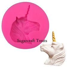 Unicorn Flexible de Silicona Molde Cup Cake Decorating Topper Chocolate Sugarcraft
