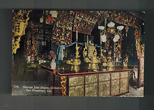 Mint San Francisco California Usa Chinatown Rppc Postcard Joss House