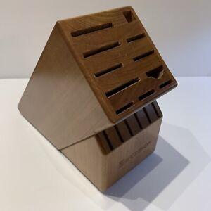 Wusthof 17 Slot Wooden Knife Block Medium Wood Tone