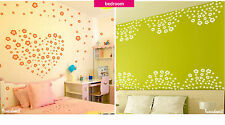 108 Flowers Wall Stickers Removable Kids Wall Decals Home Room Decor Best Gift