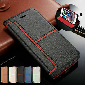 Leather Case For Samsung Galaxy A12 A52 S10 S20FE S21 Magnetic Flip Wallet Cover