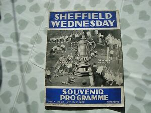 Sheffield Wednesday v Grimsby May 1935 commemorating FA Cup winning