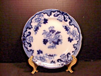 "Royal Cauldon Flow Blue CANDIA Luncheon Plate 8.75"" 1905-1920"