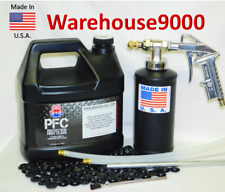 Gallon PFC Rust Proofing Pro Undercoating Spray Gun Kit 1 Bottle 3 Spray wands