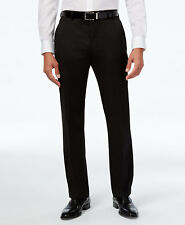 $300 ALFANI men BLACK SLIM FIT FLAT FRONT SUIT DRESS TROUSERS PANTS 38 W 32 L