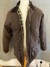 RAF Coats Brown Waxed Jacket Size S (D4)