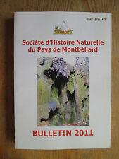 Société d'Histoire Naturelle du Pays de Montbéliard  2011