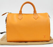 Pre Loved RARE Speedy 30 Epi Mandarin Orange LV Bag Louis Vuitton 716