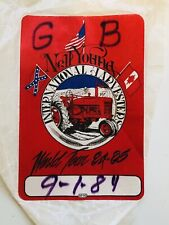 Neil Young Rare Back Stage Concert Pass 1984
