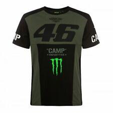 "VR46 Shirt ""Camp"" Valentino Rossi & Monster Print, T-Shirt in Oliv, Größe M - 50"