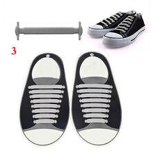 16Pcs/Set Elastic Silicone Lazy Shoelaces No Tie Laces Shoes Sneakers Trainer
