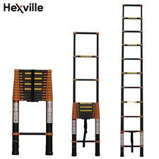 Aluminum Multi-Purpose Telescopic Ladder Extension Foldable 12.5FT 14.5FT 16.5FT
