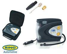Anillo 12v Automático Digital Compresor De Aire Rueda neumático Inflador Bomba + Funda rac630