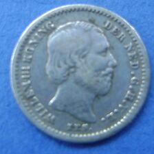 Nederland  The Netherlands 1869 stuiver, 5 cent, Willem 3 Silver KM# 91