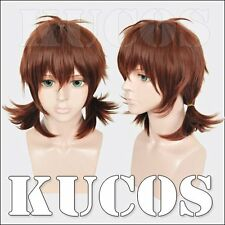Cosplay Wig Attack on Titan Isabel Margonohria Red Brown woman Anime hair