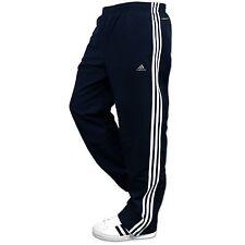 Adidas Crew ess 3s woven Pant Training pantalones pantalones deportivos azul oscuro Weiss s