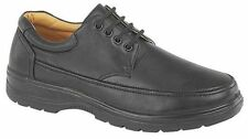 Mens Gents Size 6 7 8 9 10 11 12 Plain Black Lace up Office Work Casual Shoes UK 8