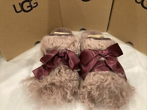 New In Box UGG Coquette Mongolian Slippers Sheerling Wool Lining Womens Size 7