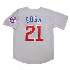 Sammy Sosa Chicago Cubs Grey Road Jersey w/ Team Patch Men's (M-2XL)